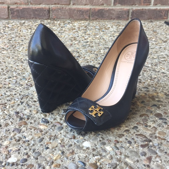 4e3678330602a3 Tory Burch Peep Toe Leila Wedge. M 5afdaf2c5521befadfc16532. Other Shoes ...